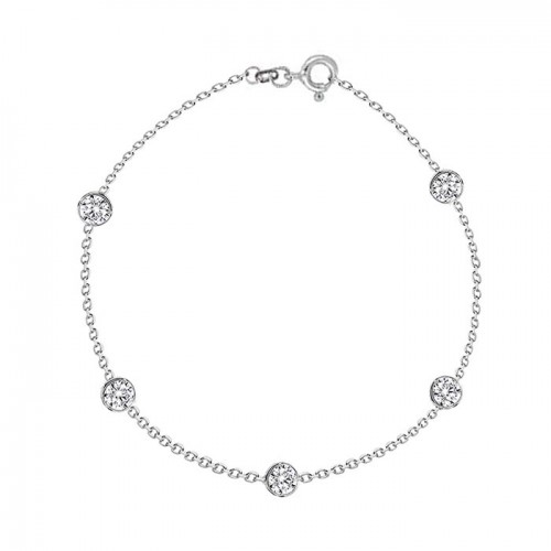 925 Sterling silver bracelet with cubic zirconia