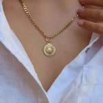 18k gold plated gourmet coin necklace