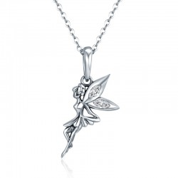 fairy pendant necklace in sterling silver