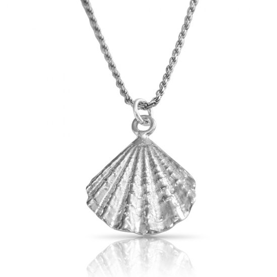 Seashell necklace in sterling silver