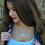 initial letters necklace - 925 sterling silver