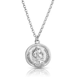 Ancient Roman coin necklace in sterling silver