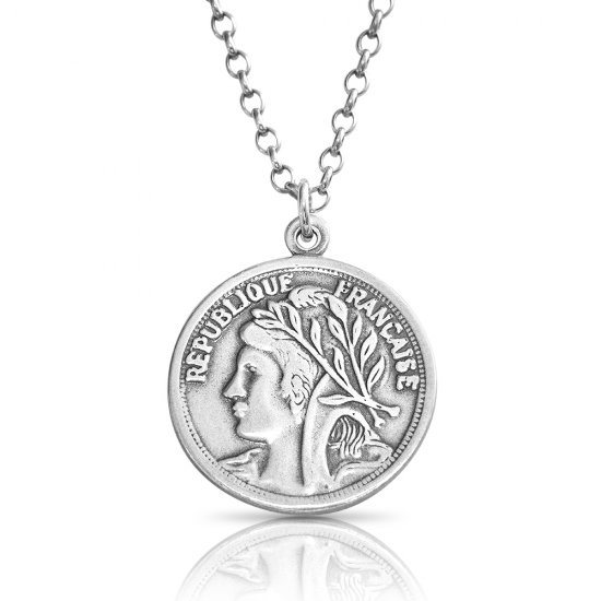 925 sterling silver coin necklace