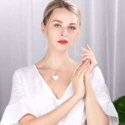 beautiful heart necklace with cubic zirconia