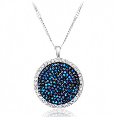 pendant necklace embellished with crystals from Swarovski