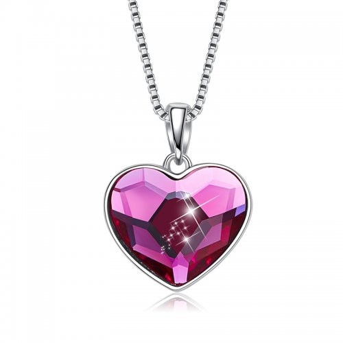 Crystal From Swarovski heart pendant necklace