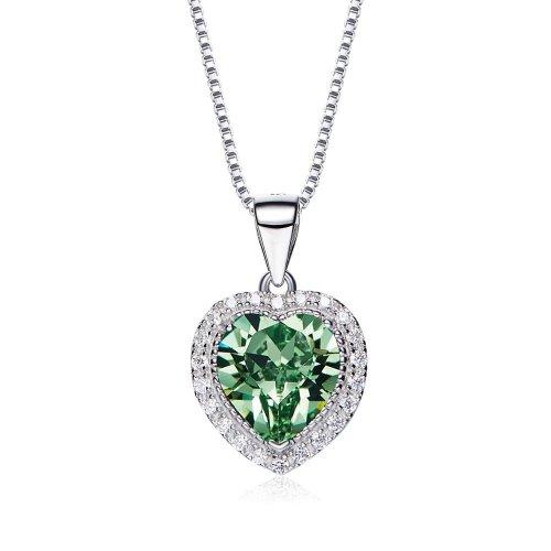 heart shaped swarovski Birthstone necklace - May