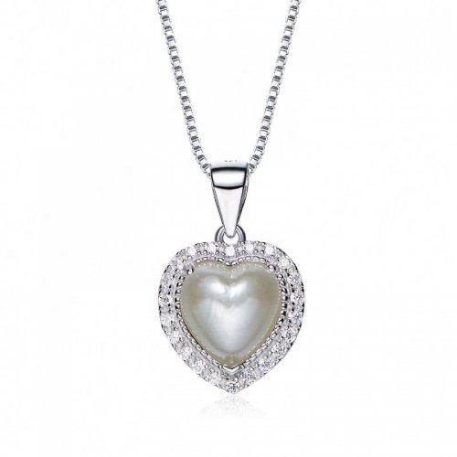 heart shaped swarovski Birthstone necklace - June