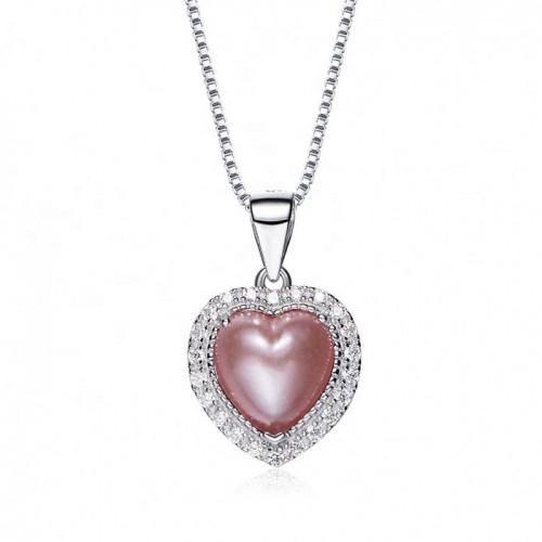 heart shaped swarovski Birthstone necklace - July