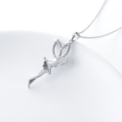 fairy pendant necklace with cubic zirconia