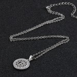 Initial letter pendant necklace in 925 sterling silver and cubic zirconia -  letter B