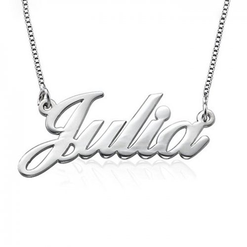 classic name necklace in sterling silver