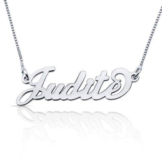 name necklace in sterling silver