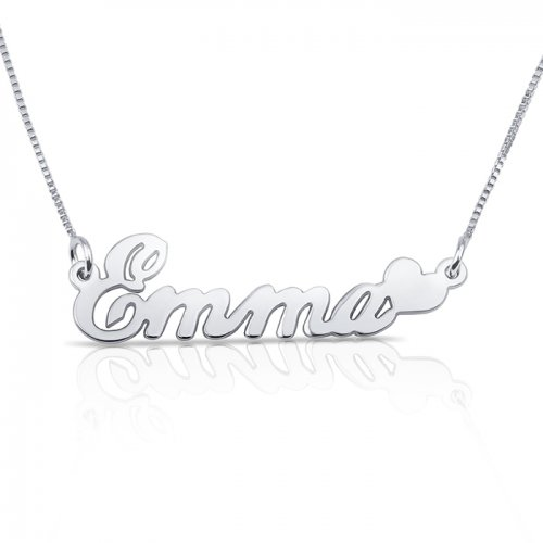 Heart Name Necklace In 925 sterling Silver