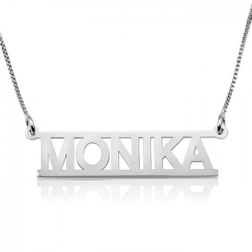 Cut out name necklace - 925 sterling silver