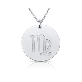zodiac necklace in sterling silver :Virgo