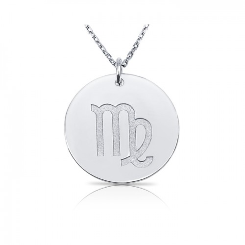 zodiac necklace in sterling silver :Virgo