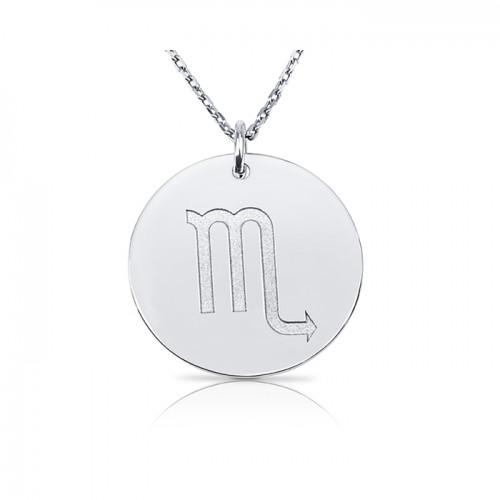 zodiac necklace in sterling silver :Scorpio