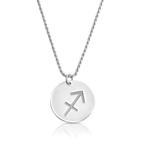 zodiac necklace in sterling silver : Sagittarius