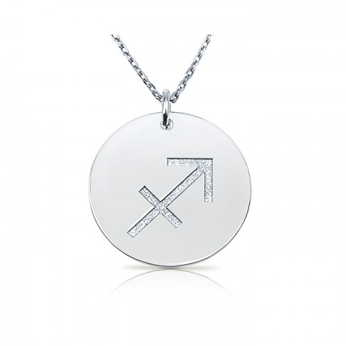 zodiac necklace in sterling silver : Sagittarius