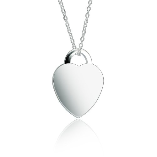 small heart pendant necklace in sterling silver
