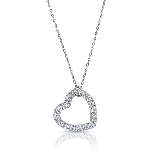 swarovski heart necklace - 925 sterling silver