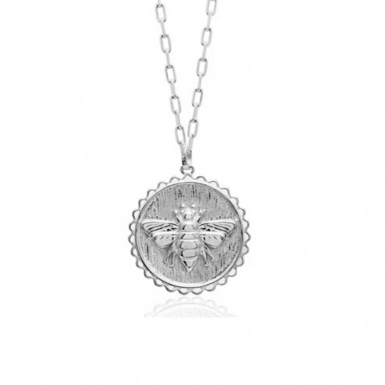 bee pendant necklace -925 sterling silver
