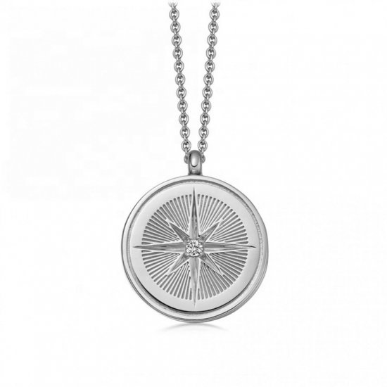 star coin necklace - 925 sterling silver