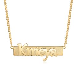 Bar name necklace - 18k gold plated *  15% OFF WITH CODE:  sale1  *