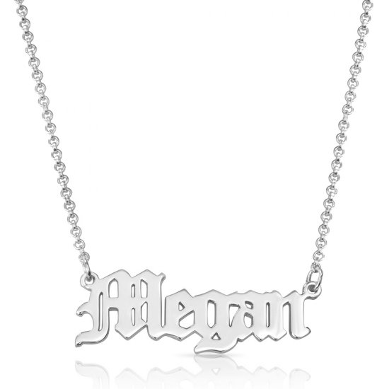 old English name necklace in sterling silver * 15% OFF WITH CODE:  sale1 *