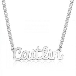 cursive name necklace in sterling silver