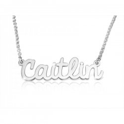 cursive name necklace in sterling silver *  15% OFF WITH CODE:  sale1 *
