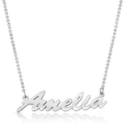 personalized name necklace in sterling silver *  15% OFF WITH CODE :  sale1  *
