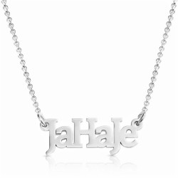 silver name necklace -  mixed letters