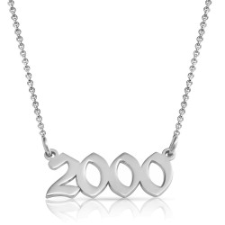 year necklace in sterling silver