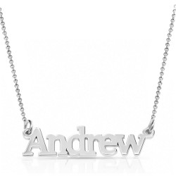 Sterling Silver Name Necklace For Man