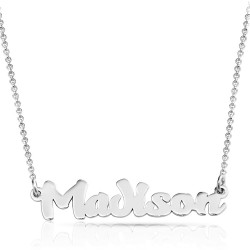 Special Font Name Necklace In sterling silver