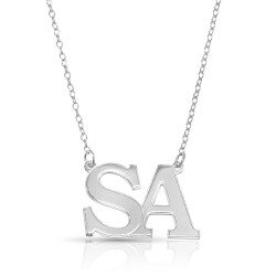 Initial Letters Necklace in sterling silver