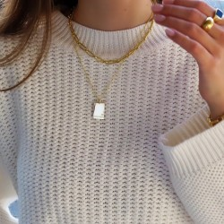 engraved rectangle necklace