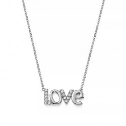 Love necklace 925 sterling silver and cz stones