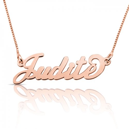 rose gold plated silver name necklace