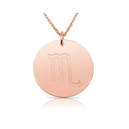 zodiac necklace in sterling silver with rose gold plating :Scorpio