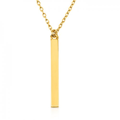 small vertical Bar Necklace in 18k gold plating