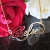 infinity name necklace - 18k gold plated silver