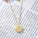 Angel coin pendant necklace