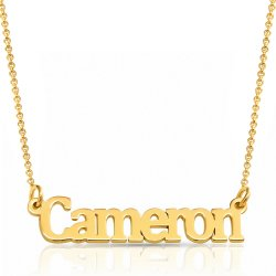 18k gold plated sterling silver name necklace * 15% OFF WITH CODE:  sale1 *