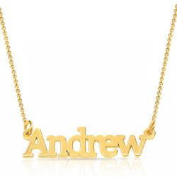 18k gold plated silver name necklace for man *  15% OFF WITH CODE:  sale1  *
