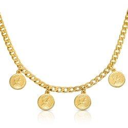 Queen Elizabeth medallion choker -18k gold plated