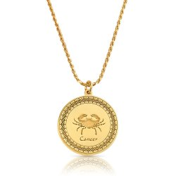 Gold Plated Zodiac Pendant : Cancer