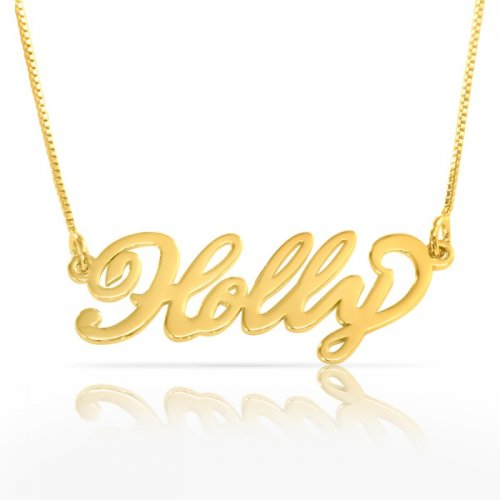 Name Necklace 18K Gold Plating on Silver